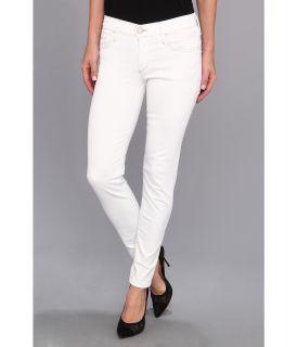 True Religion Chrissy Mid Rise Super Skinny Still Valley Womens Jeans (White)