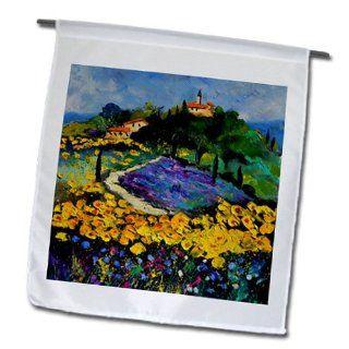 fl_21120_1 Pol Ledent painting oil landscape   Provence sunflowers   Flags   12 x 18 inch Garden Flag  Patio, Lawn & Garden