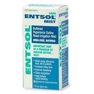 Entsol Mist, Buffered Hypertonic Nasal Mist 1 fl oz (29.6 ml): Health & Personal Care