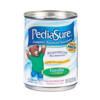PediaSure With Fiber   Vanilla Flavor   Pediatric Feeding Tube Formula   8 oz cans   Case of 24   Model 51806 Health & Personal Care