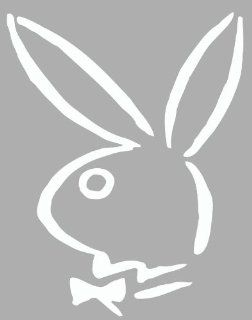 Playboy Bunny Logo Vinyl Decal Sticker Auto Car White