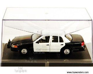 Sh22082wb Welly   Ford Crown Victoria Police Car   No Decal (124, Black & White) Sh22082wb Diecast Car Model Auto Vehicle Automobile Metal Iron Toy Toys & Games