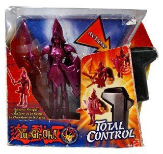 """Mattel Year 2004 Yu Gi Oh """"Total Control"""" Series 7 Inch Tall Action Figure with Electronic Sound   Queen's Knight with Sword and Shield Plus 3 Way Controller Toys & Games"""