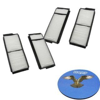 HQRP KIT: 4pcs Cabin Air Filters for Mazda 3 2004 / 2005 / 2006 / 2007 / 2008 / 2009 Microfilter plus HQRP Coaster: Automotive