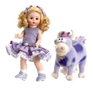 """Madame Alexander Dolls I've Never Seen A Purple Cow, 8"""", Nursery Rhymes Collection Toys & Games"""