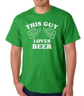 This Guy Loves Beer Funny Adult Irish Green T Shirt Tee Clothing