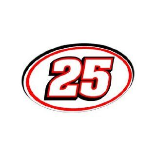 25 Number   Jersey Racing Window Bumper Sticker Automotive