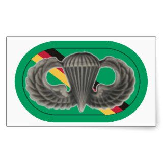 JUMP WINGS ON SF DETACHMENT EUROPE OVAL STICKERS