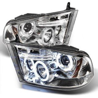 2009 2010 2011 2012 2013 2014 Dodge Ram 1500 /2010 2011 2012 2013 2014 Dodge Ram 2500/3500/4000/4500/5500 ST SLT (Not Fit Big Horn/Laramie/outdoorsman/Longhorn or Non Quad Headlights) CCFL LED (Replaceable LEDs) Projector Headlights   Chrome: Automotive
