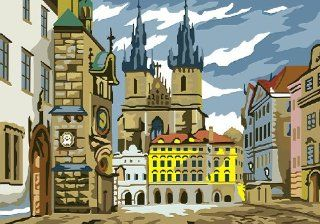 Gothic architecture acrylic (2013 New DIY paint by number 16*20'' kit)