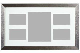 Premier Housewares Bilderrahmen Collage f�r 5 Fotos, 62,5 x 37 cm, silber: Küche & Haushalt