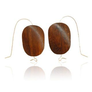 Sterling Silver and Robles Wood Drop Earrings,: Kirsten Sander: Jewelry