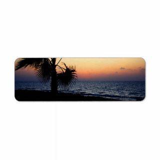 Romantic beach scene. custom return address label