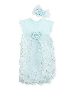 Icy Balms Sack Dress w/Headband, Blue, 0 3 Months