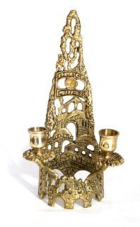"Jewish Shabbat Sabbat Solid Brass Candle Holders / Sticks Jerusalem Skyline Unique Collector's Design Hand Made In ISRAEL By The Artist Tamar 10.0"" x 3.5"" . Great Gift For Rosh Hashanah Sabbath Purim Sokot Simchat Torah Hanukkah Passover Lag"