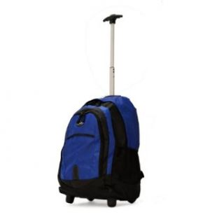 Olympia 19 inch Rolling Carry On Wheeled Travel Backpack Luggage / Book Bag in Blue Clothing
