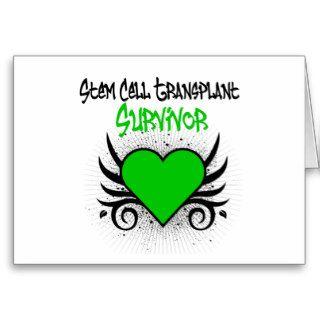 Stem Cell Transplant Survivor Heart Tattoo Greeting Cards