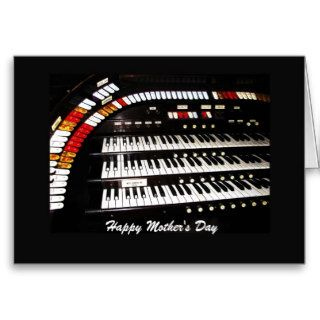 Antique Organ Happy Mother's Day Greeting Cards