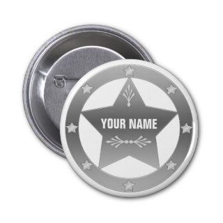 Blank Sheriff / Marshal badge Button