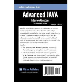 Advanced JAVA Interview Questions You'll Most Likely Be Asked (Job Interview Questions Series) Vibrant Publishers 9781461159261 Books