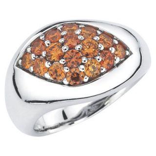 She Sterling Silver Modern Open Teardrop Ring