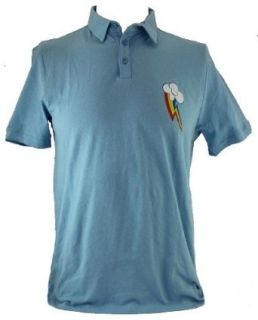 My Little Pony Friendship is Magic Mens Slim Fit Polo  Rainbow Dash Logo: Clothing