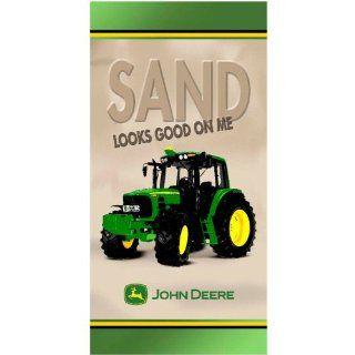 "John Deere ""Sand Looks Good"" Green Beach Towel"