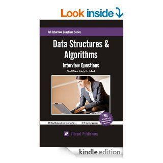 Data Structures & Algorithms Interview Questions You'll Most Likely Be Asked eBook Vibrant Publishers Kindle Store