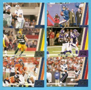 2011 Panini Threads Football Series Complete Mint Hand Collated 150 Card Set Including Aaron Rodgers, Tim Tebow, Michael Vick, Tom Brady, Drew Brees, Adrian Peterson, Arian Foster, Calvin Johnson, and many, many more.  Sports Related Trading Cards  Sport