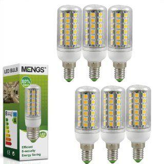 6X MENGS� E14 LED lampe Gl�hbirne Mais Licht 8W (450LM, Kaltwei� 6000K, 48 x 5050 SMD LED   360� Abstrahlwinkel   AC 220 240V   �32�98mm) Energiespar licht Beleuchtung