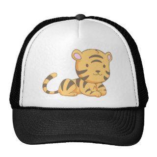 Custom Cute Smiling Cartoon Baby Tiger Cub Hats