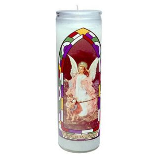 Guardian Angel Unscented Jar Candle 8x2.25x2.25
