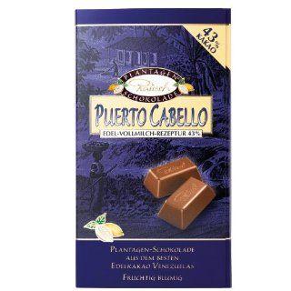 Rausch Puerto Cabello Edel Vollmilch Schokolade, 250 g Tafel, Kakao: 43 % , 1er Pack (1 x 250 g): Lebensmittel & Getr�nke