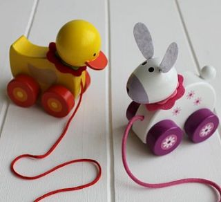 wooden pull along toy by posh totty designs interiors