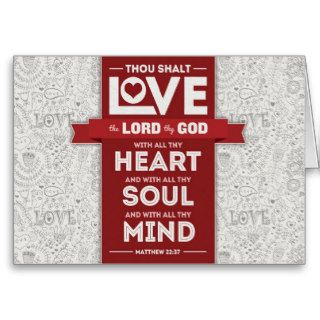 Love God Mousepad   Matthew 2237 Bible Verse Cards