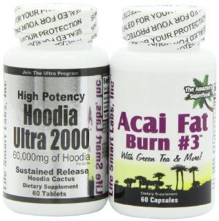 Combo ACAI Fat Burn #3 and Hoodia Ultra 2000 Diet Pill with Green Tea, Grapefruit, Apple Cider, and more for Weight Loss and 2000mg of Hoodia: Health & Personal Care