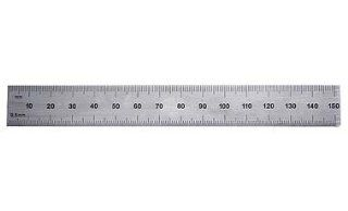 "PEC Tools 262 006 6"" Inch/MM USA Rigid Steel Rule, reads 32nds, 64ths, 1mm, 1/2mm.   Construction Rulers"