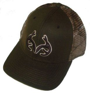 Brown Antlers Logo Camo Mesh Hunting Cap Hat RO273_Brwn ~ REALTREE OUTFITTERS : Camo Hat Mesh Back : Sports & Outdoors