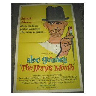 THE HORSE'S MOUTH / ORIGINAL U.S. ONE SHEET MOVIE POSTER (ALEC GUNNESS) ALEC GUNNESS Entertainment Collectibles