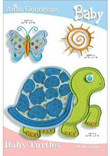 Anita Goodesign Embroidery Designs Cd Baby Turtles: