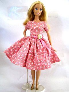 Barbie Doll Dresses Barbie Clothes Fashion Vintage Handmade Valentine Toys Toys & Games