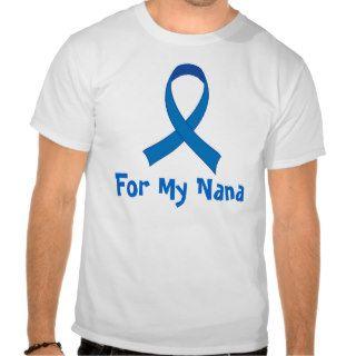 For My Nana Blue Ribbon Awareness Tshirts