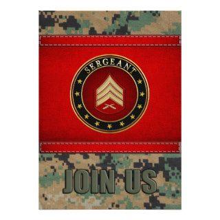 [100] Sergeant (Sgt) Rank Insignia Custom Invitation