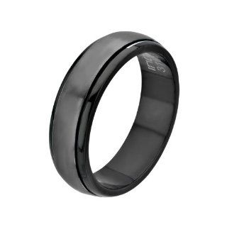 Inox Jewelry Men's Stainless Steel Black IP Spinner Ring: Body Candy: Jewelry