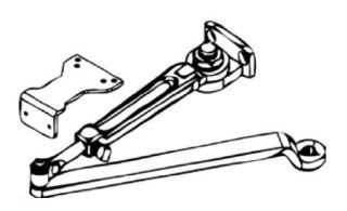 Cal Royal 301/302DURO Duro 300 Hold Open Door Closer Arm with Parallel Bracket from the 300 Series