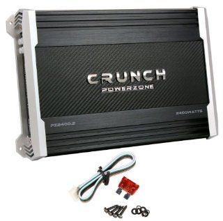 Crunch PZ2400.2 2, 400 Watt Max 2 Channel Amplifier PowerZone Series Car Amp  Vehicle Stereo Amplifiers