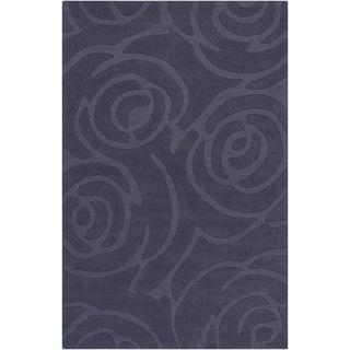 Mandara Hand tufted Geometric Blue Wool Rug (5' x 7'6) Mandara 5x8   6x9 Rugs