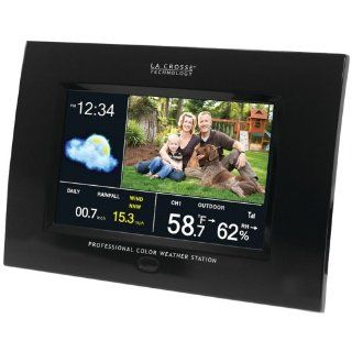 JAYBRAKE 308 807 La Crosse Technology 308 807 Professional Weather Station W/Color Display & Digital Pic Frame : Vehicle Electronics : Car Electronics