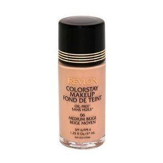 REVLON Colorstay Makeup Foundation Oil Free SPF 6   Original Formula 1.25 oz, #06 MEDIUM BEIGE  Old Formula For Revlon Color Stay Foundation  Beauty