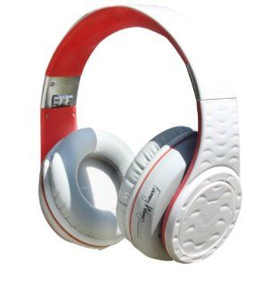 Fanny Wang Headphones Co. Over Ear DJ Headphones with Selectable Bass Boost, Red Velvet, (FW 2001 WHI RED) Electronics